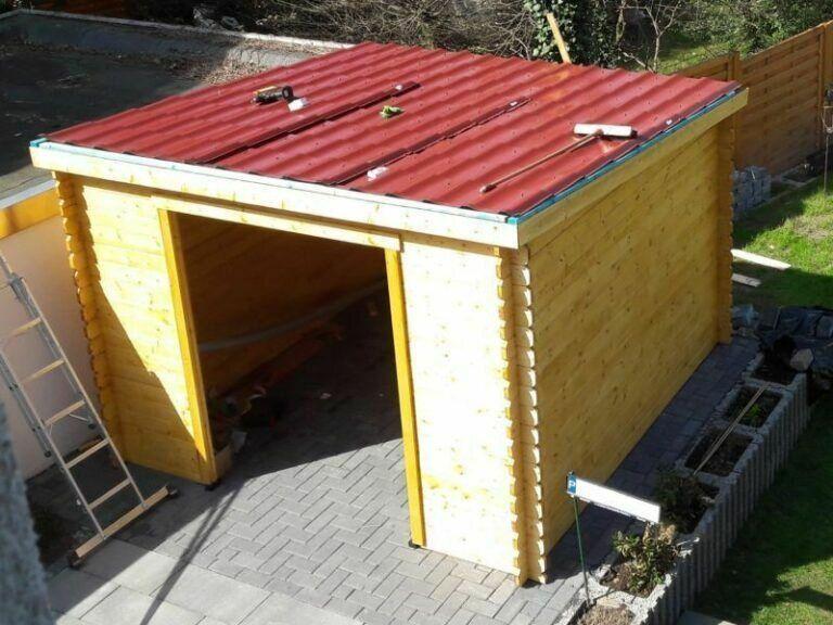 Dacheindeckung06a Gartenhaus