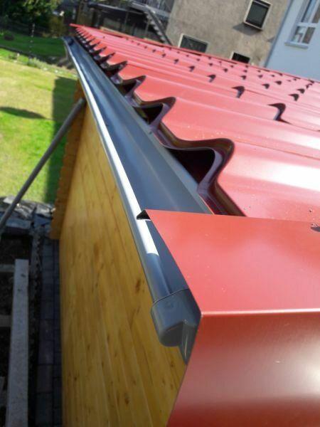Dacheindeckung10 Gartenhaus