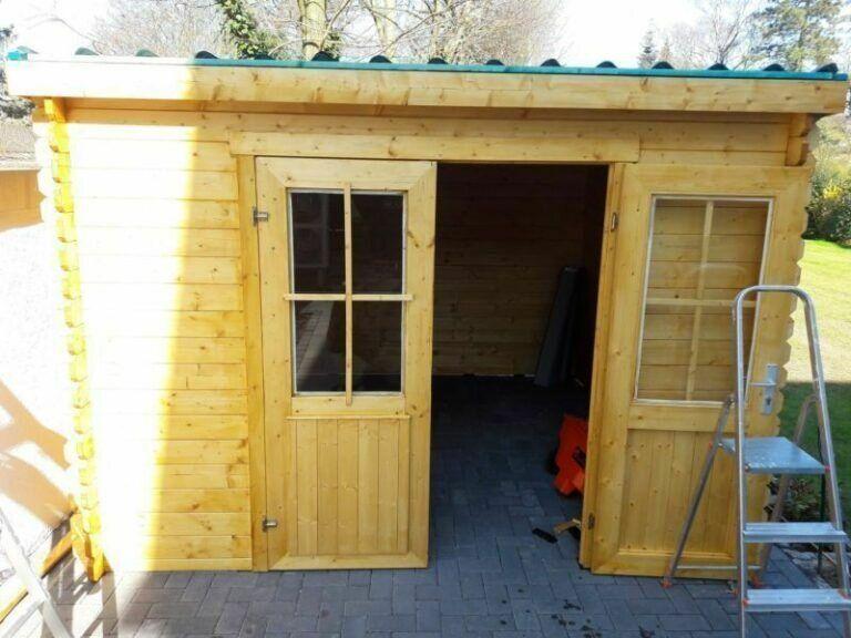 Dacheindeckung11 Gartenhaus