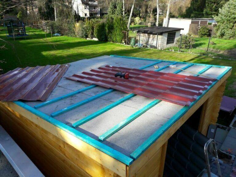 Dachverlattung1 Gartenhaus