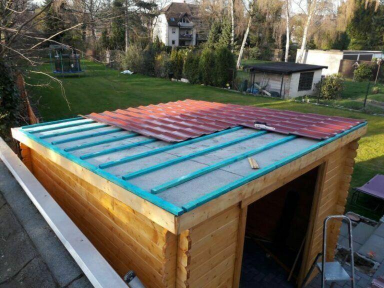 Dachverlattung2 Gartenhaus