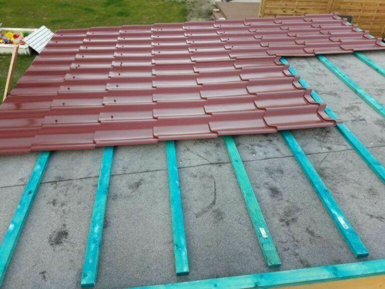 Dachverlattung3 Gartenhaus
