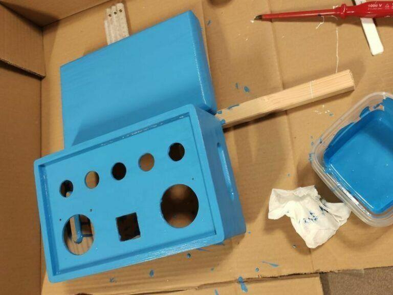 Box lackieren