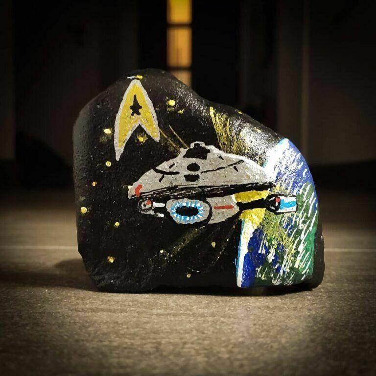Raumschiff Voyager als Pottstein