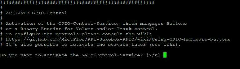 Phoniebox Installer GPIO Control Service