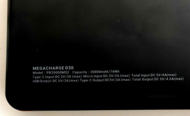 EasyAcc Megacharge D30