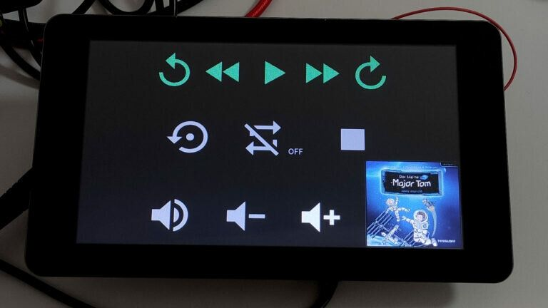 Touch Display Phoniebox Player Bedienung